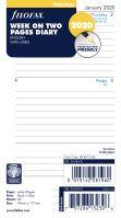 Filofax kalendář A6 2020 týden na dvě strany linkovaný anglický