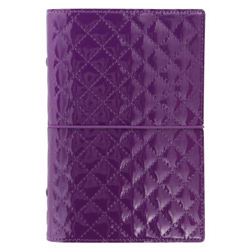 Filofax Domino Luxe A6 Personal fialový diář