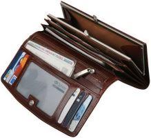 ADK FIESTA hnědá kožená peněženka