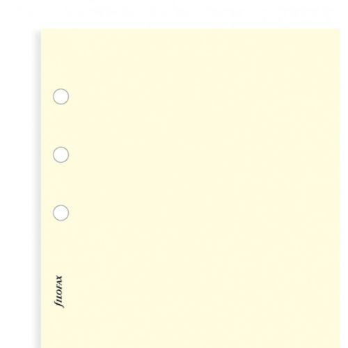 Filofax papír nelinkovaný krémový A6