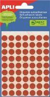 APLI etikety kolečka 8mm fluorescentní červené 288ks/bal