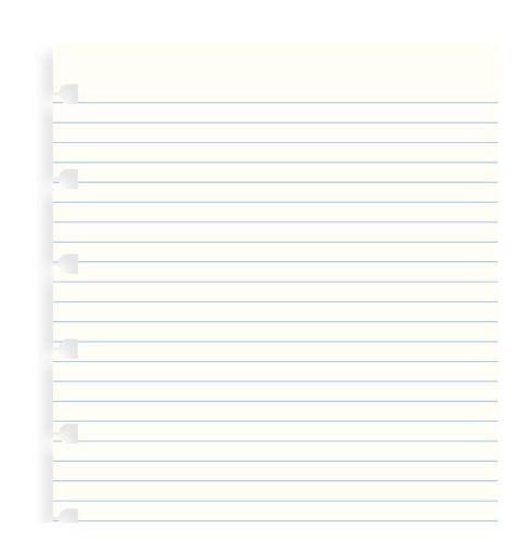 Filofax Notebook A5 náplň linkované papíry