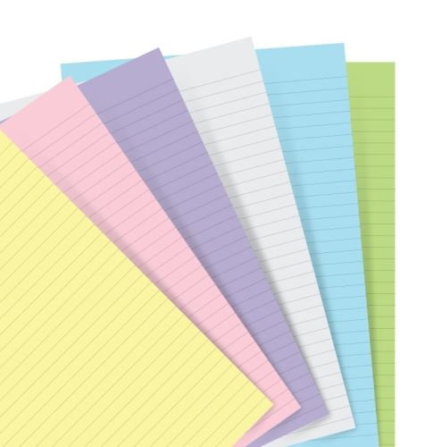 Filofax papír linkovaný pastelový A7