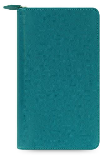 Diář Filofax Saffiano Compact Zip akvamarínový