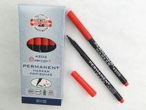 Koh-I-Noor popisovač permanentní červený 4202 kulatý