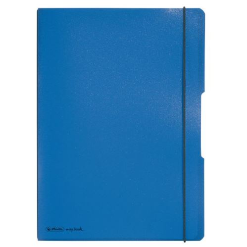 Herlitz sešit flex A4/2x40 listů čtverečkovaný + linkovaný modrý
