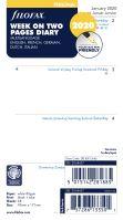 Filofax kalendář A6 2020 týden na dvě strany 5 jazyků