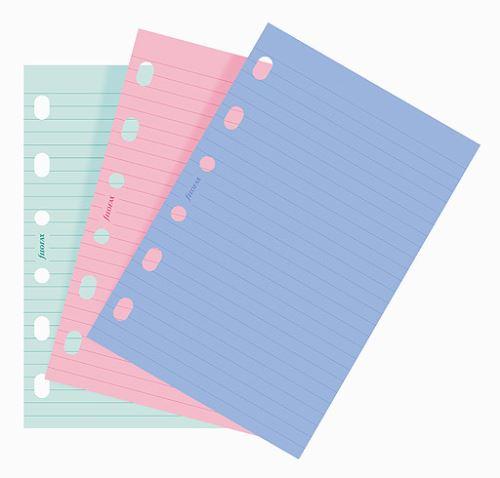 Filofax náplň do diáře formát A7 linkovaný papír barevný