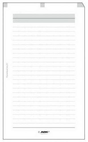 Náplň do diáře ADK A7 poznámkové listy formulář