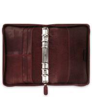 Filofax Lockwood Zip A6 Personal rubínový diář osobní b