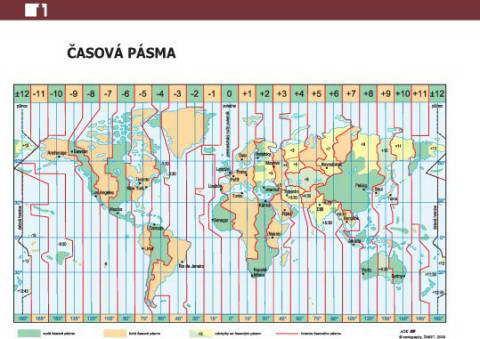 Náplň do diáře ADK A6 mapa světa a časových pásem formulář