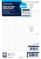 Filofax kalendář A5 2019 týden na dvě strany 5 jazyků sloupce