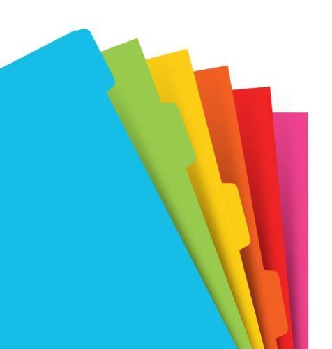 Filofax krajové výřezy plnobarevné A5