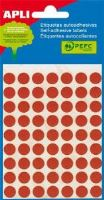 APLI etikety kolečka 10mm červené 315ks/bal