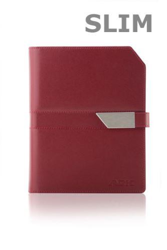 ADK diář NEWELEGANT SLIM A6 červenočerný plánovací systém