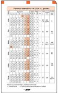 Náplň do diáře ADK A6 plánovací kalendář 2018