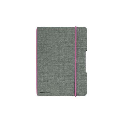 Herlitz sešit flex A6/40 listů čtverečkovaný plátno růžová gumička