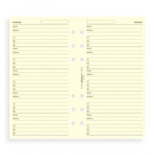 Filofax adresář krémový A6