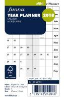 Filofax plánovací kalendář Mini 2018 horizontální anglický