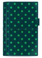 Filofax Domino Patent A6 Personal tmavě zelený diář