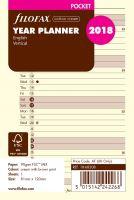 Filofax plánovací kalendář A7 2018 vertikální krémový