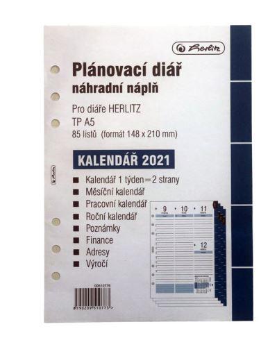 Plánovací kalendář A5 2021