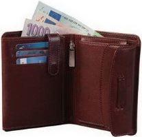 Kožená peněženka ADK PARAMARIBO hnědá