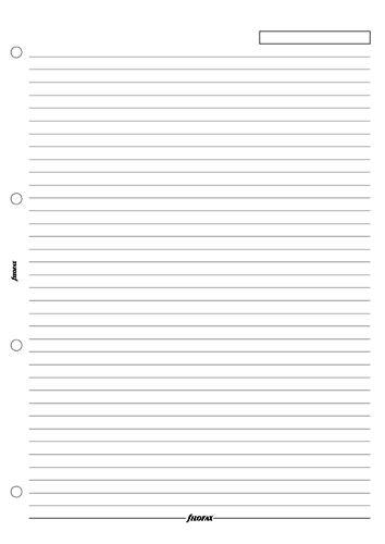 Filofax náplň do diáře formát A4 papír linkovaný bílý
