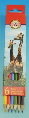 Koh-I-Noor Souprava pastelek 6ks zvířata dlouhé