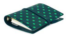 Diář Filofax Domino patent A7 Pocket tmavě zelený