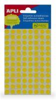 APLI etikety kolečka 8mm žluté 288ks/bal