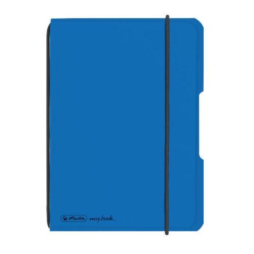 Herlitz sešit flex A6/40 listů čtverečkovaný PP modrý