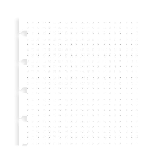 Notebook náplň A5 papíry tečkované