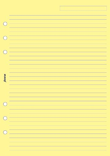 Filofax papír linkovaný žlutý A5