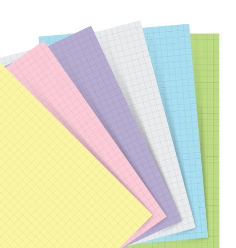 Filofax papír čtverečkovaný pastelový A5