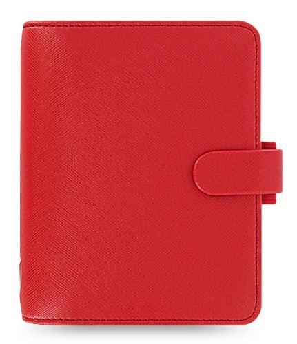 Diář Filofax Saffiano A7 červený