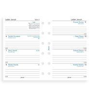 Filofax kalendář A7 2021 týden na dvě strany český