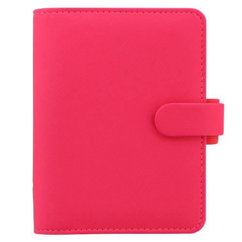 Filofax Saffiano A7 Pocket Fluoro růžová diář kapesní