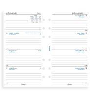 Filofax kalendář A6 2021 týden na dvě strany český