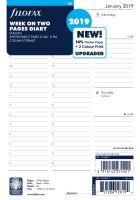Filofax kalendář A5 2019 týden na dvě strany anglický sloupce