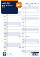 Filofax plánovací kalendář A4 2019 vertikální anglický