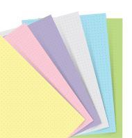 Filofax Notebook náplň A5 papíry tečkované pastelové