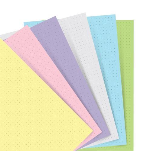 Notebook náplň A5 papíry tečkované pastelové