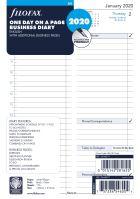 Filofax kalendář A5 2020 den na jednu stranu business anglický