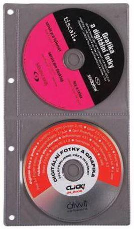 Náplň do diáře ADK formát A4 obal na 2 CD/DVD