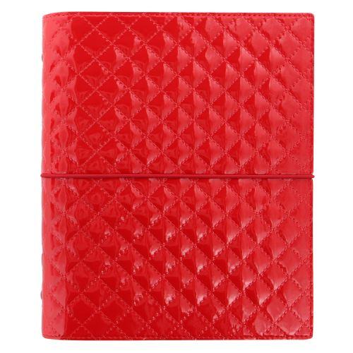 Filofax Domino Luxe A5 červený diář lesklý