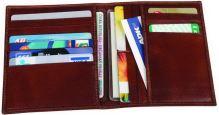 Kožené pouzdro na kreditní karty ADK OMAHA hnědé