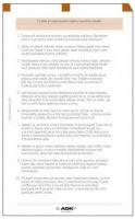Náplň do diáře ADK A6 chytrá desatera II. formulář