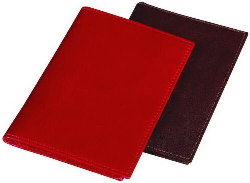 Kožené pouzdro na doklady ADK  LEMGO červené