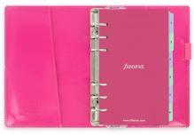 Diář Filofax Domino Patent růžový